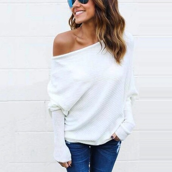 76f5133b318 One Eleven Boutique Sweaters | White Off Shoulder Sweater | Poshmark